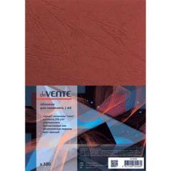Обложки для переплета Devente А4 картон под кожу красн. (100 шт)