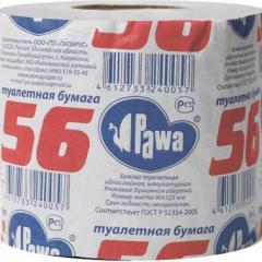 Бумага туалетная Pawa со втулкой, 27М