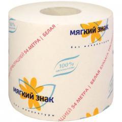 Бумага туалетная Мягкий Знак со втулкой, 54М