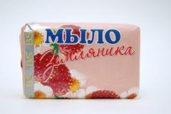 Мыло туалетное Земляника 90Г. ( Бс.Ру)