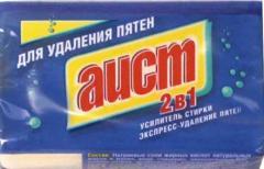 Мыло хозяйственное 150г Аист 2В1 с пятновыводителем