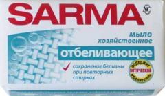 Мыло хозяйственное Отбеливающ.140г Сарма