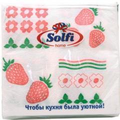Салфетки бумажные 250Х250мм 50 шт.с рисунком Solfi