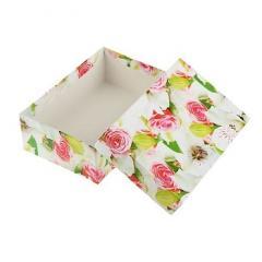 Коробка подарочная цветы Яблони 8*8*6см