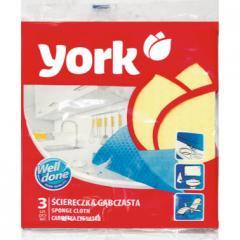 Салфетки для домашней уборки York Губчат.15Х18 (3шт)