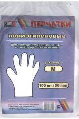 Перчатки одноразовые П/Эт(100шт) М