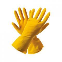 Перчатки резиновые с х/б напылением Multi Care L (Б) 30 Мкм