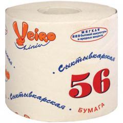 Бумага туалетная Сыктывкарская со втулкой, 39М