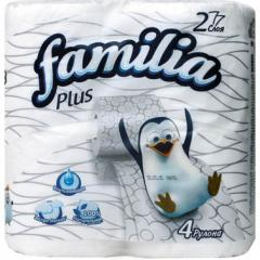 Бумага туалетная Familiia Plus 2 Сл., 4 рул., белая