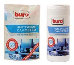 Салфетки для чистки экрана Buro 100 шт.