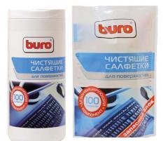 Салфетки для чистки поверхностей Buro 100шт.