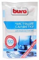 Салфетки для чистки экрана Buro 100 шт. зап.блок
