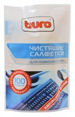 Салфетки для чистки поверхностей Buro 100шт. зап.блок