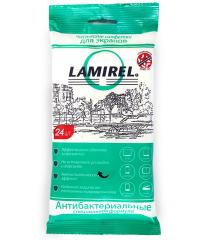Салфетки для чистки экрана Lamirel 24шт. в мягкой упаковке Антибакт.