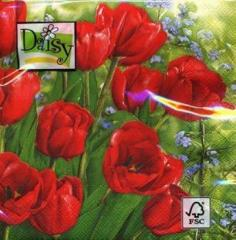Салфетки бумажные 330Х330мм 20 шт. весенние Тюльпаны