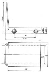 Тележка рельсовая для сыпучих материалов