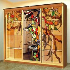 Furniture stained-glass windows