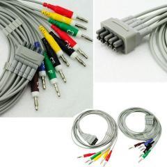 ЭКГ Переходник кабеля штекер-кнопка, под штекер 4