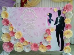 Свадебный 3D Press Wall в Алматы