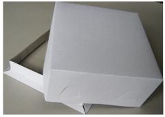 Cake packaging white