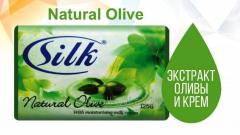Твердое мыло Silk Soap 125 гр Natural Olive, Арт.