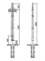Опора из гнутого профиля ВЛ 10-220 кВ