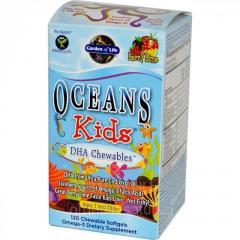 Омега-3. Oceans kids. DHA. 120 жевательных таб. 3+