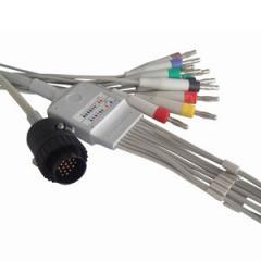 ЭКГ Кабель отведения пациента для Kenz с разъёмом 15DIN (трапеция), штекер 3мм
