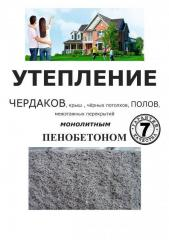 Warming by Foam concrete in Shymkent.