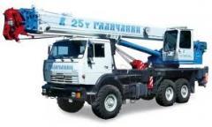 Trucks of average loading capacity