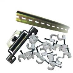 DIN laths, clips, brackets plastic