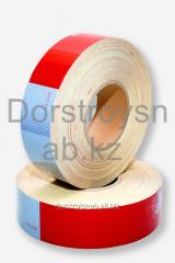 Tape retroreflective on a sticky basis