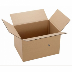 Boxes from a three-layer corrugated cardboard