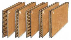 Three-layered cardboard