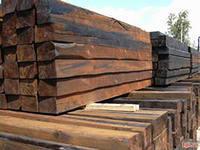 Cross ties wooden impregnated