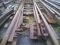Railroad switches for the main transpor