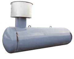 Резервуары подземного размещения отопительные. Высота горловины 500 мм, диаметр 530 мм. СУГ - 25 (8 мм)