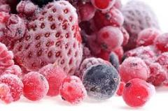 The berries frozen