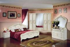 Спальный гарнитур Амбра Бежевая