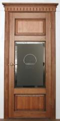 Двери массив Ольхи ОЛ55 орех с патиной