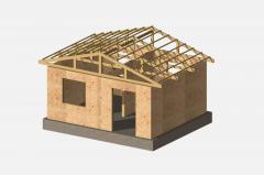 Деревянно-каркасный, сборно-щитовой дачный дом
