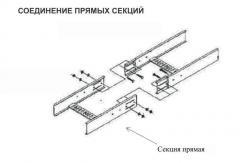 Соединение прямых секций НЛ