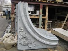 Fibrobeton decorative for finishing of facades of