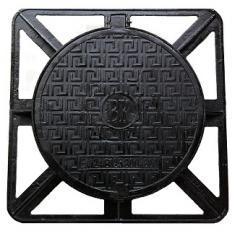 Люк на шарнире с запорным замковым устройством чугунный тип С В125 Межгосударственный стандарт ГОСТ 3634-99  Материал: чугун с шаровидным графитом