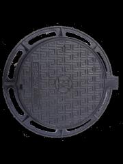 Чугунный люк смотрового колодца на шарнире с запорным замковым устройством чугунный тип С (EN124 В125) Межгосударственный стандарт ГОСТ 3634-99  Материал: чугун с шаровидным графитом