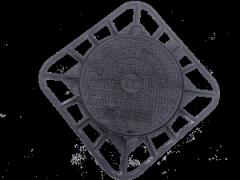 Чугунные люки смотрового колодца на шарнире с запорным замковым устройством тип Т (EN124 С250) Межгосударственный стандарт ГОСТ 3634-99  Материал: чугун с шаровидным графитом