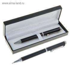 Ручка шариковая подарочная в кожзам футляре