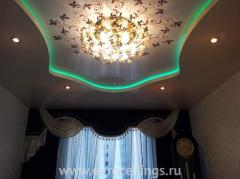 Stretch ceilings with illumination