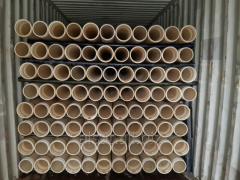 Pipes upsetting of polyethylene