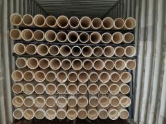 Pipes upsetting of polyethylene
